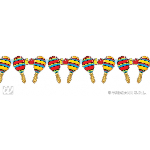 MARACAS GARLANDS 3m Accessory for Mexican South American Spanish Fancy Dress