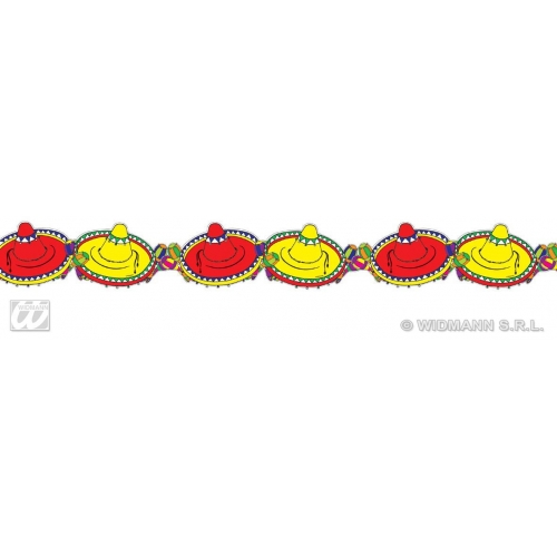 SOMBRERO GARLANDS 3m Hat Accessory for Mexico Mexican Wild West Cowboy Bandit Hat Fancy Dress