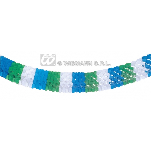 TRICOLOUR PAPER HAWAIIAN GARLANDS 18cm 4m for Hawaii Tropical Beach Magnum Five