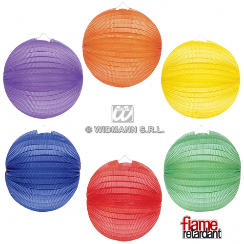 BALLS 33cm - 1 of 6 colours UNICOLOUR PAPER Gift for Novelty Toy