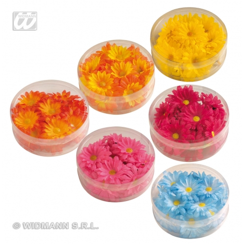DECORATIVE DAISIES 1 of 6 colours LEIS Accessory for Fancy Dress Party