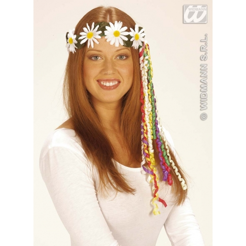 DAISY DIADEMES WITH MULTI RIBBONS Decoration for Party