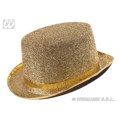 GOLD LAME FELT Victorian TOPPER Hat Accessory for 18th Century Dickensian Edwardian Fancy Dress