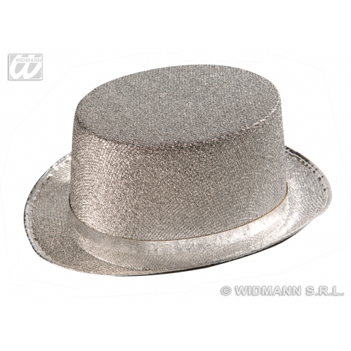 SILVER LAME FELT Victorian TOPPER Hat Accessory for 18th Century Dickensian Edwardian Fancy Dress
