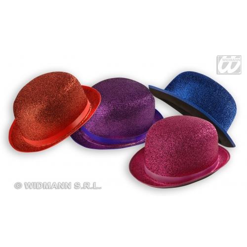 LAME - 1 of 4 colours FELT BOWLER Hat Accessory for Laurel hardy Victorian Fancy Dress