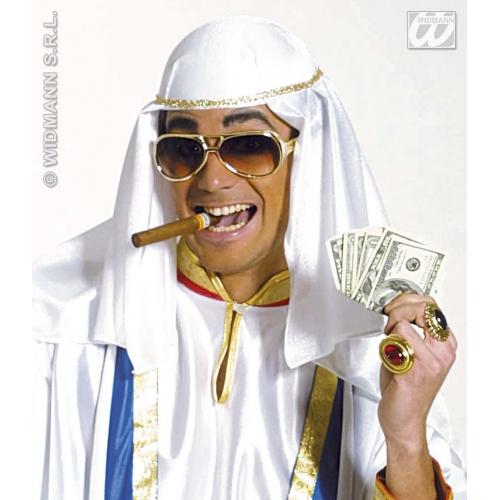 ARABIAN HAT TRIMMED FELT Accessory for Arab Prince Aladdin Fancy Dress