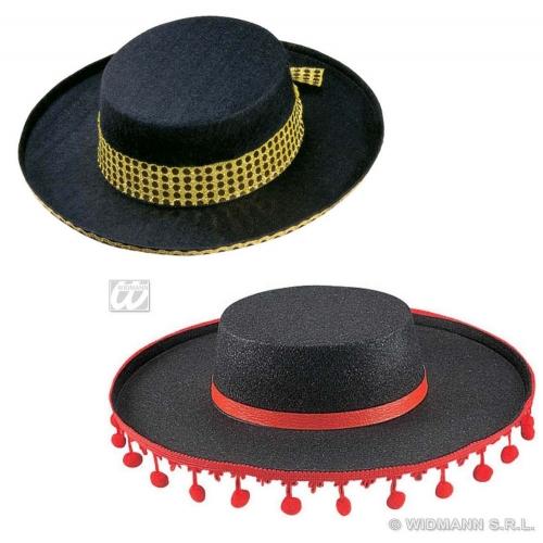 FLAMENCO HAT FELT Accessory for Spanish Spain Dancer National Dress Basque Fancy Dress