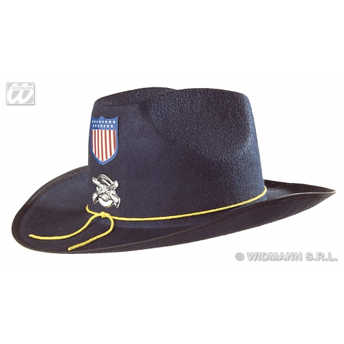 FELT CIVIL WAR UNION GENERAL HAT BLUE Accessory for Soldier War Military Fancy Dress
