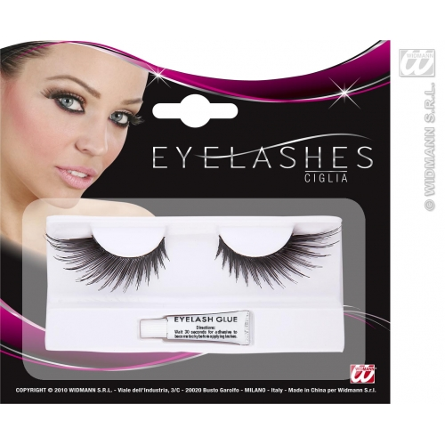 EYELASHES SPIKED WINGS SHAPE BLACK SFX for Fairy Angel Cosmetics