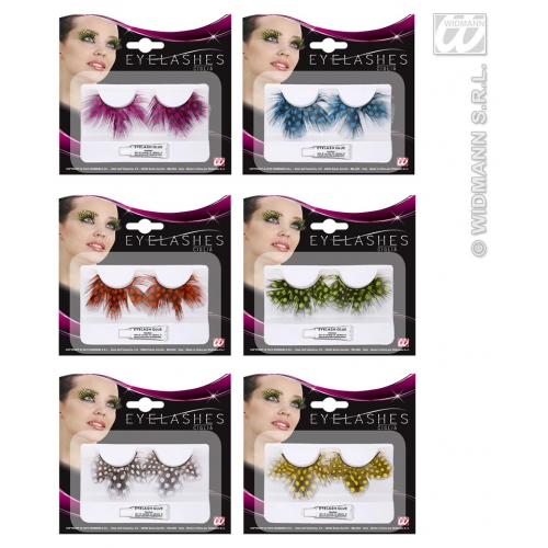 EYELASHES DOTTED FEATHERS 1 of 6 colours SFX for Cosmetics