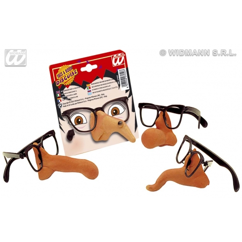 GLASSES W/NOSE 1 of 4 styles Accessory for Fancy Dress
