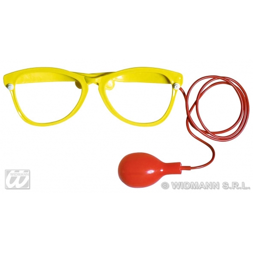 1 GIANT SQUIRT GLASSES yellow/red Accessory for Fancy Dress