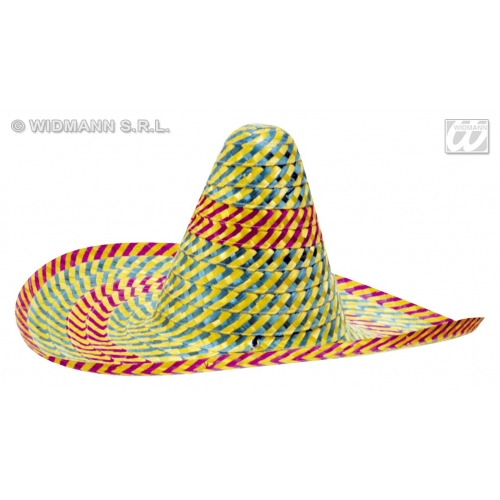 ACAPULCO SOMBRERO 50cm Hat Accessory for Mexico Mexican Wild West Cowboy Bandit Hat Fancy Dress