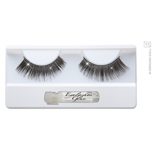 HOLOGRAPHIC GLITTER EYELASHES BLACK WITH SFX for Cosmetics