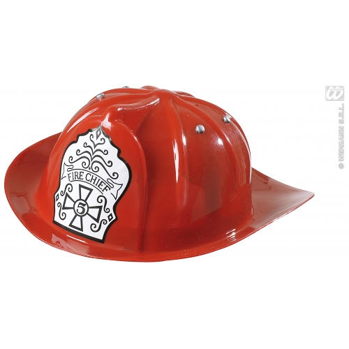 FIREMAN HAT - CHILD Boys HARD PLASTIC Accessory for Fireman Firefighter Fire Fancy Dress Childs Kids