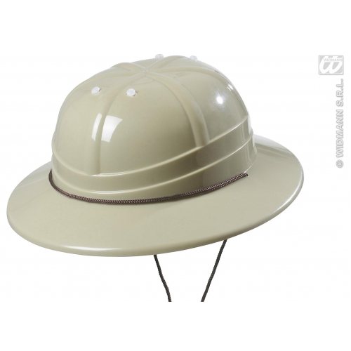 EXPLORER / SAFARI HAT HARD PLASTIC Accessory for Adventurer Archeologist Safari Fancy Dress