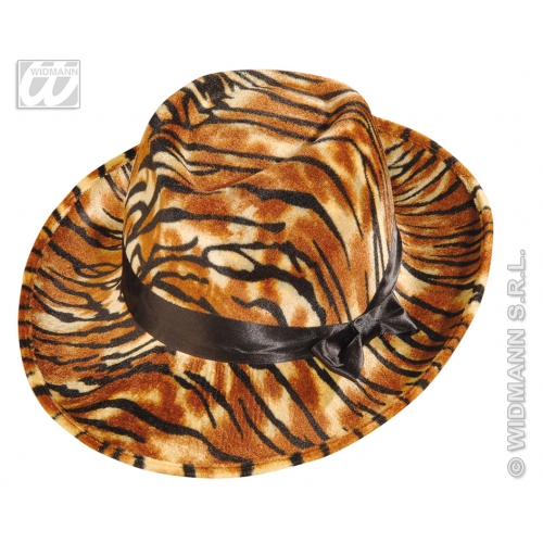 TIGER VELVET PARTY HAT Accessory for Indian Jungle Animal Cat Feline Fancy Dress