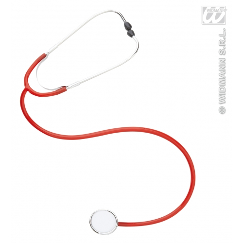 PROFESSIONAL STETHOSCOPES RED Accessory for Doctor Hospital E.R. Medic Fancy Dress