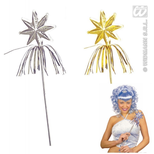 1 silver or gold FAIRY WAND Accessory for Make-believe fairytale Pan Tinkerbell Fancy Dress