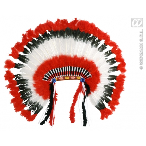 AMERICAN INDIAN HEADDRESS Hat Accessory for USA America United States Fancy Dress