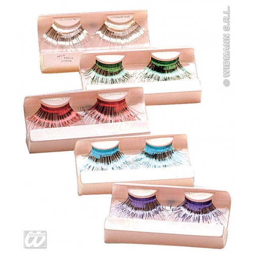 EYELASHES JUMBO COLOURED 1 of 6 colours SFX for Cosmetics