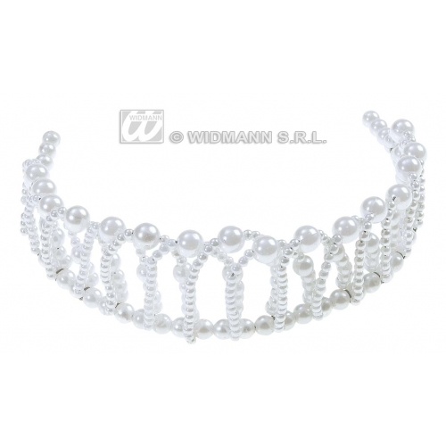 BENDABLE PEARL PRINCESS CROWNS Accessory for Royal Fairytale Beautiful hero Fancy Dress