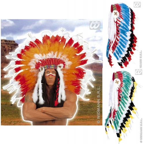 INDIAN HEADDRESS PROFESSIONAL Hat Accessory for Native Wild West American Cowboys Fancy Dress