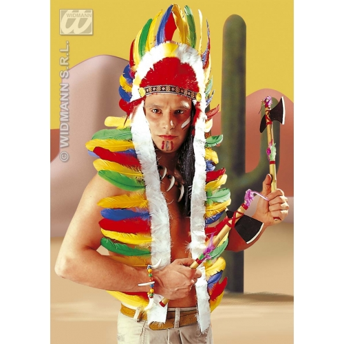 INDIAN HEADDRESS Hat Accessory for Native Wild West American Cowboys Fancy Dress 160CM