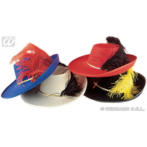 Boys MUSKETEER HAT SIZE Accessory for Athos Aramis d'Artagnan Fancy Dress Childs