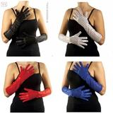 Adult Unisex SEQUIN 50s GLOVES 41cm 1 of 4 Cols Accessory for 50s Rockabilly Fifties Fancy Dress 1Size Unisex Mens