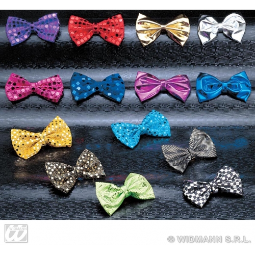 DELUXE BOW PERFORMER TIE 1 of 14 colours Decoration for Hollywood Show Party