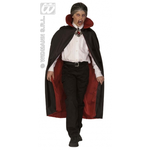 Child Unisex DELUXE LINED CAPE W/ COLLAR SIZE 115cm Accessory for Superhero Villian Super Hero Fancy Dress Unisex Kids Girls