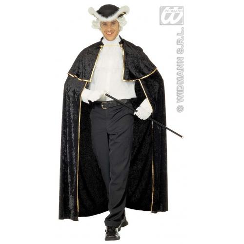 VENETIAN VELVET CAPE W/JABOT 142 cm Accessory for Renaissance Shakespear Fancy Dress
