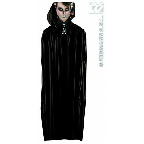 LONG BLACK HOODED CAPE Accessory for Superhero Villian Super Hero Fancy Dress