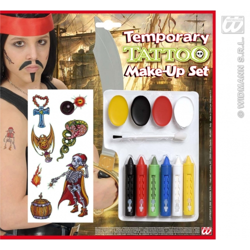 TEMP TATTOO MAKE UP KIT 1 of 12 styles SFX for Cosmetics