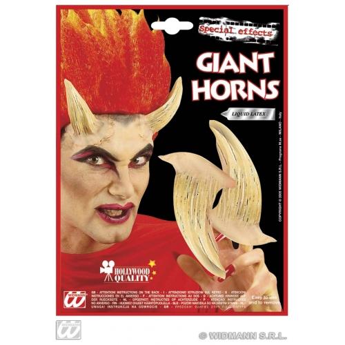 DEVIL HORNS W/ ADHESIVE FLESH COLOUR Accessory for Satan Lucifer Demon Antichrist Halloween Fancy Dress