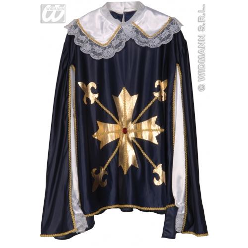 "Mens MUSKATEER COAT Accessory for Regency Cavalier Pirate Fancy Dress 40-44""chest Adults Male"