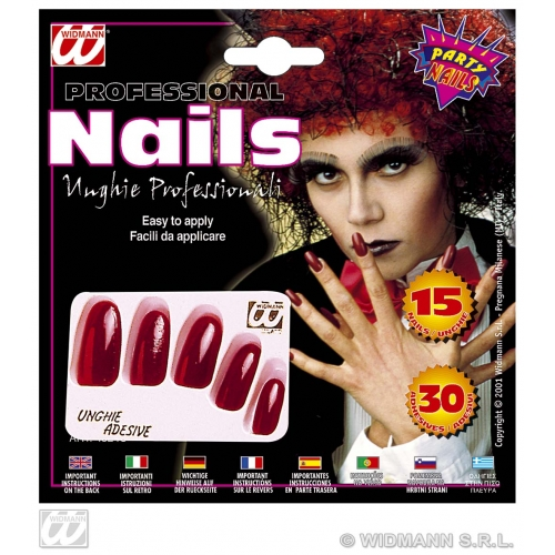 NAILS EXTRA LONG RED SFX for Cosmetics