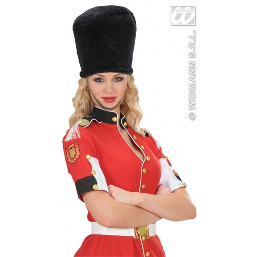 PLUSH ROYAL GUARD HAT Accessory for Fairytale Regal Royal Ruler Fancy Dress