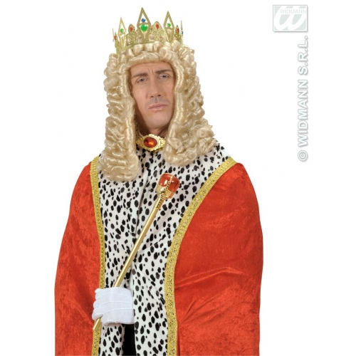 JEWELLED KING & QUEEN CROWN Accessory for Royal Regal Sire Medieval Leader Ruler Fancy Dress