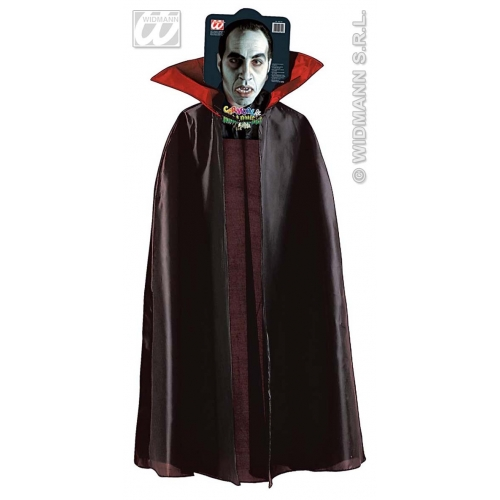 CAPE W/COLLAR Accessory for Superhero Villian Super Hero Fancy Dress
