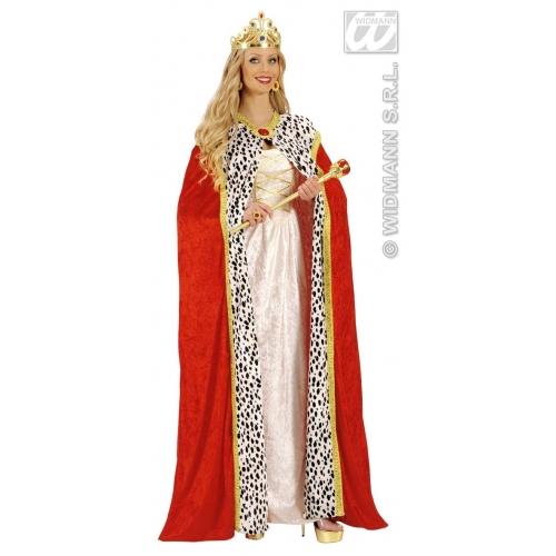 ROYAL CAPE VELVET 150 cm Accessory for Fairytale Regal Royal Ruler Fancy Dress