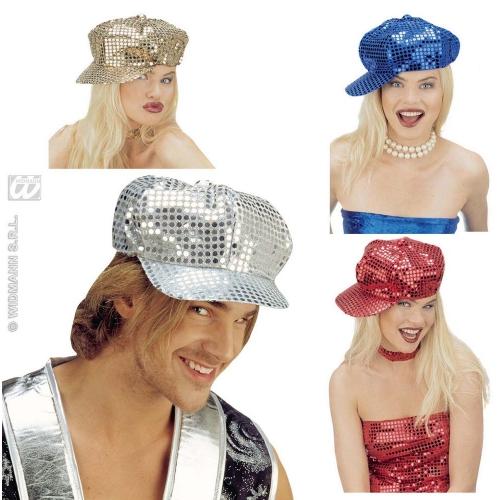 MOD SEQUIN FASHION HAT Accessory for 1960s 60s Sixties Rock Pop Retro Era Fancy Dress