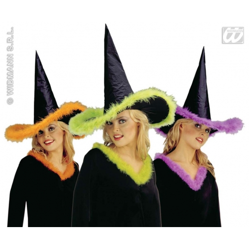 WITCH HAT MARABOU TRIM Accessory for Halloween Oz Eastwick Fancy Dress