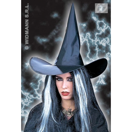 WITCH HAT BLACK PLAIN Accessory for Halloween Oz Eastwick Fancy Dress