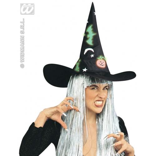 WITCH HAT W/GID DECS Accessory for Halloween Oz Eastwick Fancy Dress