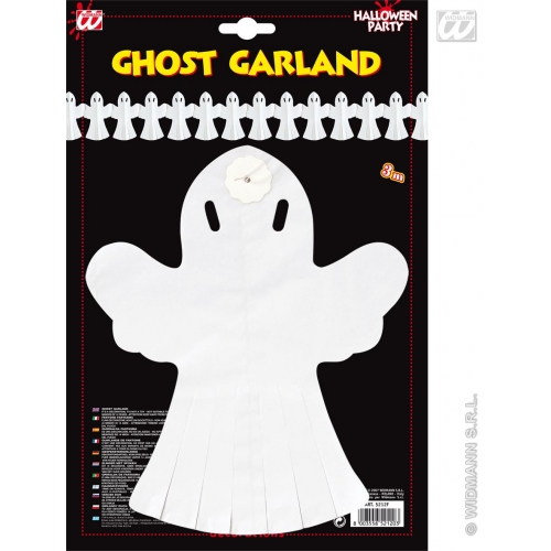 GHOST GARLAND 3M Accessory for Spooky Frightening Scary Halloween Fancy Dress Party