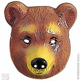 Child Unisex BEAR MASK PLASTIC SIZE Accessory for Grizzly Pooh Fancy Dress Unisex Kids Girls