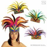RIO DE JANEIRO FEATHER CROWN Accessory for Royal Regal Ruler Fancy Dress