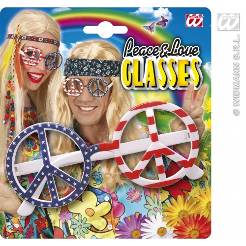 USA FLAG LOVE & PEACE GLASSES Decoration for American United States Party